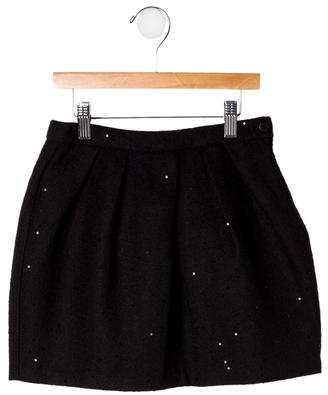 Il Gufo Girls' Sequined Skirt