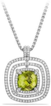 David Yurman Chatelaine Pave Bezel Enhancer With Peridot And Diamonds