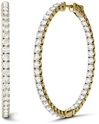 Charles & Colvard Moissanite Hoop Earrings (5/8 ct. t.w. Diamond Equivalent) in 14k Yellow Gold