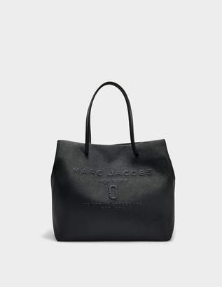 c6b5fa542f6e Marc Jacobs EW Logo Shopper Bag in Black Split Cow Leather