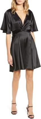 Bishop + Young Karlie Satin Empire Waist Dress