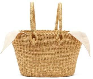 Muun Claudia Mini Straw Basket Bag - Womens - Cream Multi