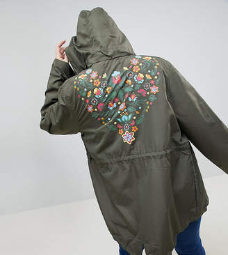 Brave Soul Plus Merri Lightweight Jacket With Back Detail