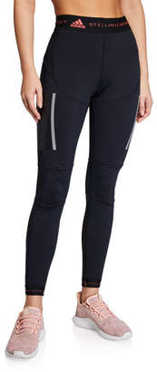 adidas by Stella McCartney High-Rise Paneled Running Tights