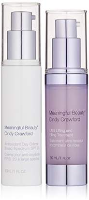 Fine Lines Meaningful Beauty by Cindy Crawford – Renewing Day Protection Bundle – Improves and Wrinkles – Ultra Lifting & Filling Treatment – Antioxidant Day Crème – MT.2060