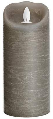 """Threshold 3"""" x 7"""" Unscented LED Moving Flame Pillar Candle Gray"""