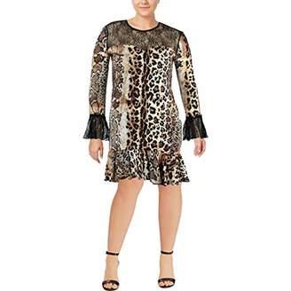 Just Cavalli Women's Animal Print Lace Dress