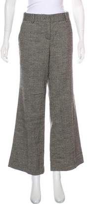 Tory Burch Mid-Rise Wide-Leg Pants