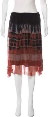 Raquel Allegra Knee-Length Tie-Dye Skirt