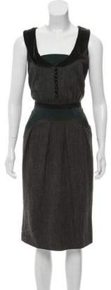 Etro Sleeveless Midi Dress Black Sleeveless Midi Dress