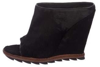 Camilla Skovgaard Distressed Ponyhair Wedge Sandals