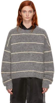 Acne Studios Grey Striped Rhira Sweater