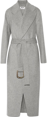 Acne Studios - Lova Oversized Wool And Cashmere-blend Coat - Stone $1,550 thestylecure.com