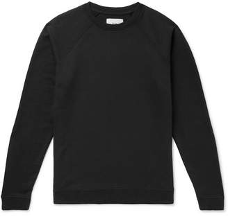 Folk Rivet Loopback Cotton-Jersey Sweatshirt - Men - Black