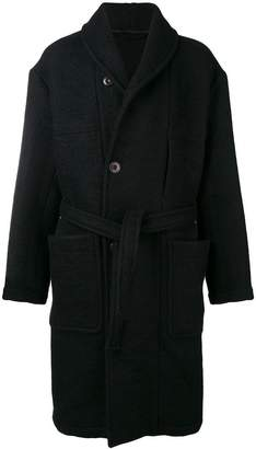 Lemaire belted single-breasted coat