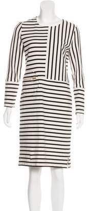 Tory Burch Long-Sleeve Striped Dress