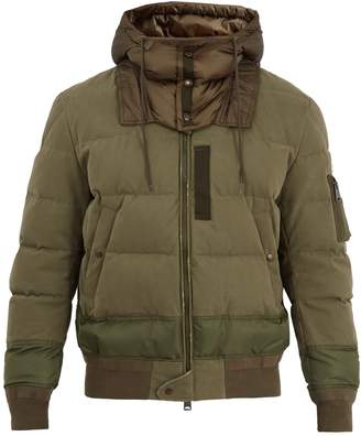 Moncler Leopold hooded stretch-cotton bomber jacket