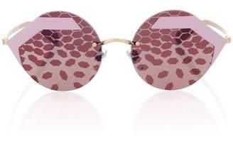 BVLGARI EYEWEAR Serpenteyes round sunglasses