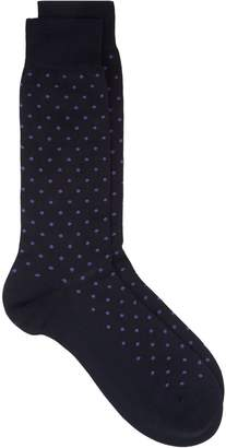 Harrods Spot Cotton Lisle Socks