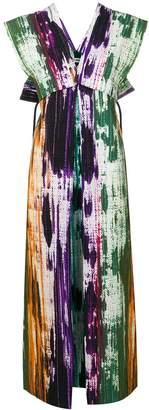 Issey Miyake abstract print dress