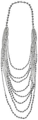 MIXIT Mixit Silver Faceted Bead Womens Strand Necklace
