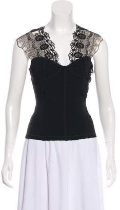 Blumarine Sleeveless Lace Top