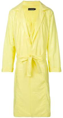 David Catalan oversized fluoro raincoat