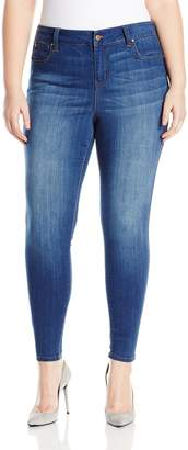Celebrity Pink Jeans Women's Plus Size Infinite Stretch Mid Rise Skinny Jeans