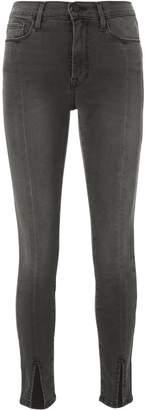 Frame Le High Ali Split Front Grey Jeans