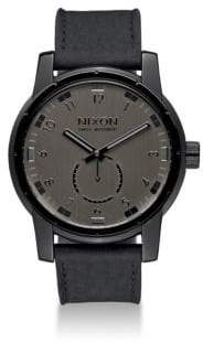 Nixon Patriot Stainless Steel& Leather Strap Watch