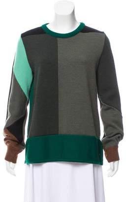 Chloé Colorblock Wool Sweater