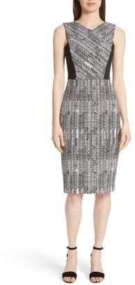 Jason Wu Herringbone Jacquard Sheath Dress