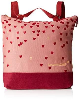 Adelheid Herzallerliebst Rucksacktasche, Women's Backpack Handbag, Rot (Beerenrot), 7.5x40.5x44 cm (wxhxd)