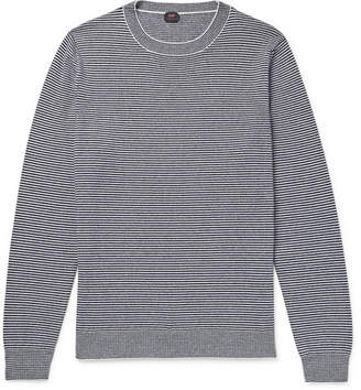 Piombo MP Massimo Striped Cashmere Sweater