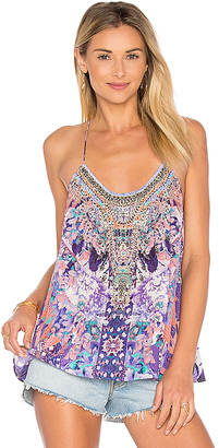 Camilla T Back Shoestring Tank in Purple $350 thestylecure.com