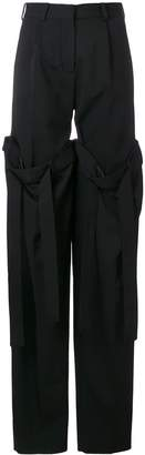 Y/Project detachable layered trousers