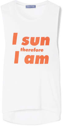 Paradised - I Sun Printed Stretch-jersey Tank - White
