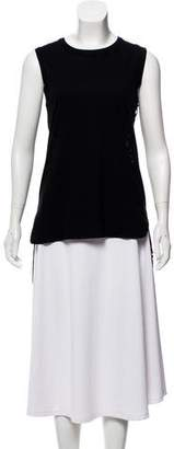 Giambattista Valli Guipure Lace-Accented Sleeveless Top