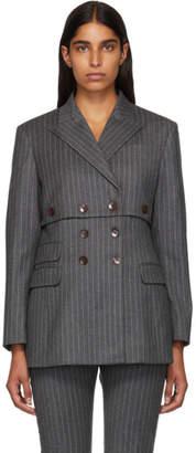 Altuzarra Grey Pinstripe Millett Blazer