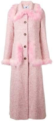 Blumarine feather embellished coat