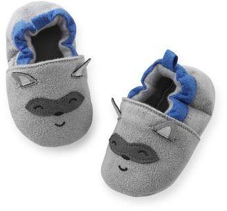 Carter's Raccoon Baby Slippers