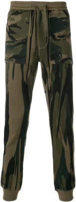 MHI camouflage print track pants