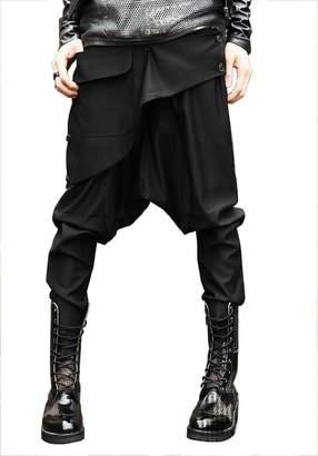 Abestor Fashion Men`s Trendy Hip Hop Boot Cut Jeans Skinny Harem Pants Trousers