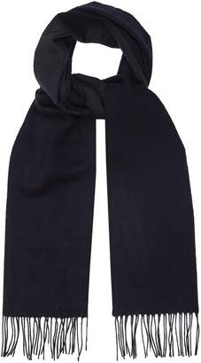 Reiss Ashton - Lambswool Cashmere Blend Scarf in Navy