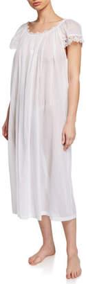 Celestine Miri Scoop-Neck Cap-Sleeve Nightgown with Lace Trim
