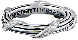 Peter Thomas Roth Sterling & Diamond SignatureBand Ring