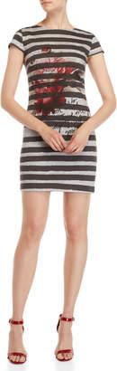 Desigual Stripe & Floral T-Shirt Dress