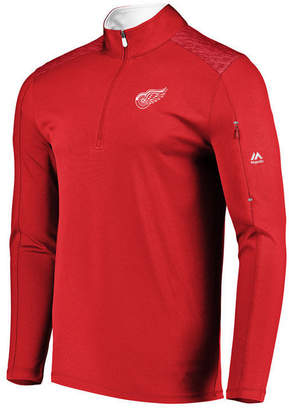 Majestic Men's Detroit Red Wings Ultra Streak Half-Zip Pullover
