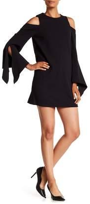 Tibi Cold Shoulder Split Sleeve Dress