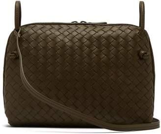 Bottega Veneta Nodini Intrecciato Leather Cross Body Bag - Womens - Khaki